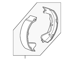 Park Brake Shoes - GM (23458645)