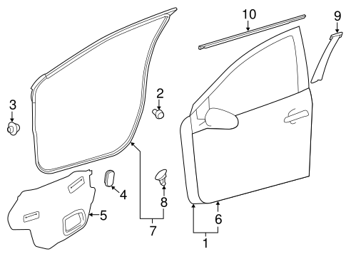 BODY/EXTERIOR TRIM - FRONT DOOR for 2014 Toyota Prius C #1