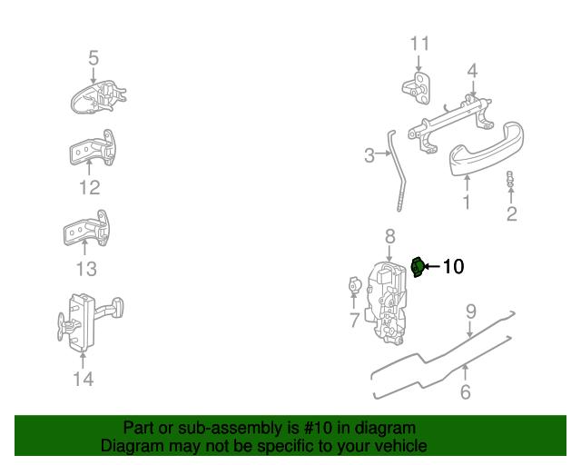 Lock Rod Clip Gm 16640343 Gmpartsdirect Com