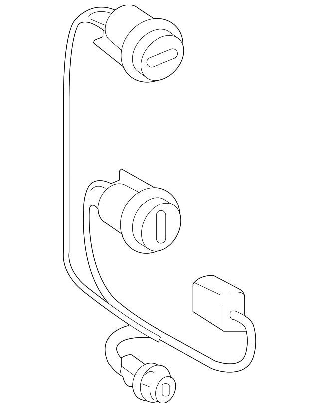 2009 2015 Toyota Tacoma Socket Wire 81555 04160