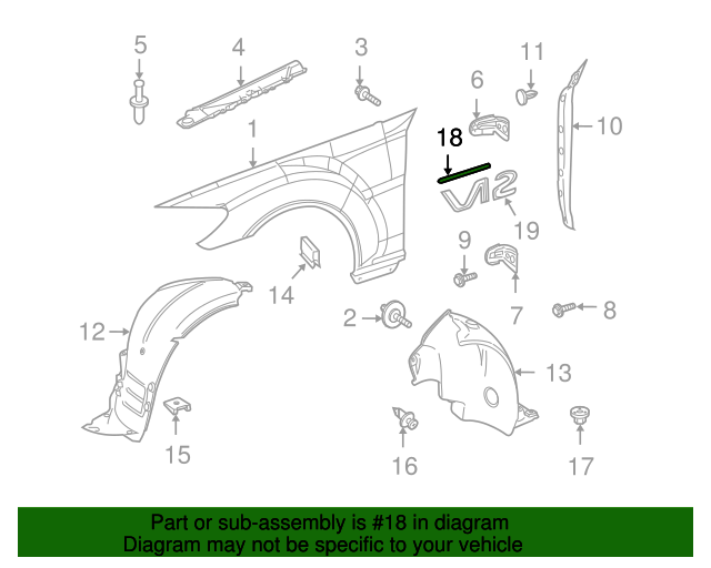 Molding mercedes benz 221 690 40 80 oemmercedes for Mercedes benz part numbers list
