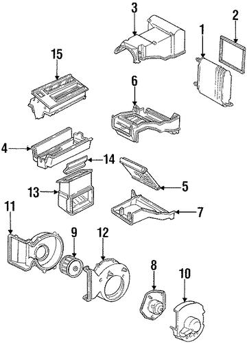 blower motor  u0026 fan parts for 1994 gmc c1500 pickup