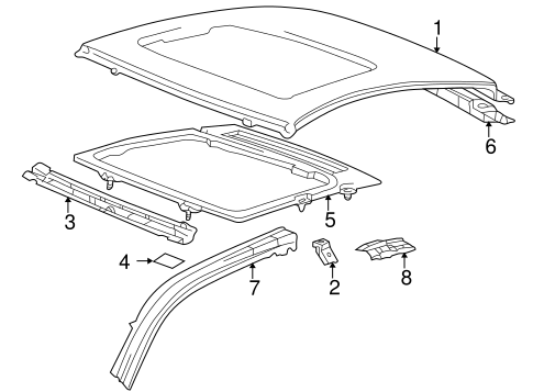 BODY/ROOF & COMPONENTS for 2003 Toyota Celica #1