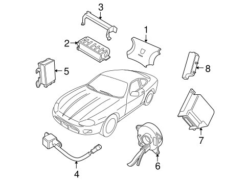 Air Bag Components For 2004 Jaguar Xk8