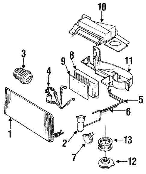 Condenser Compressor Lines For 1994 Chevrolet Lumina