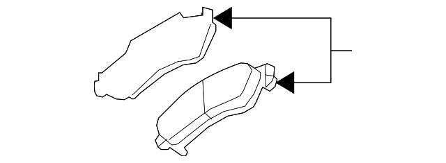 genuine gm brake pads 22866196