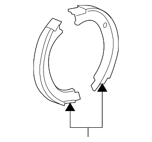 Park Brake Shoes - GM (22782942)