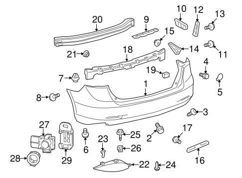 BODY/BUMPER & COMPONENTS - REAR for 2012 Toyota Venza #1
