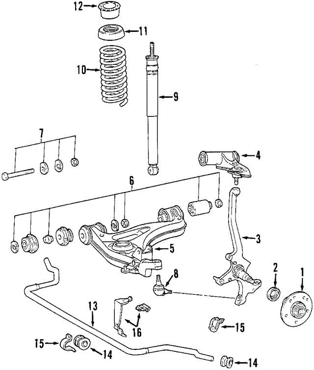 1998 2001 Mercedes Benz Slk 230 Lower Control Arm 170 410 00 47