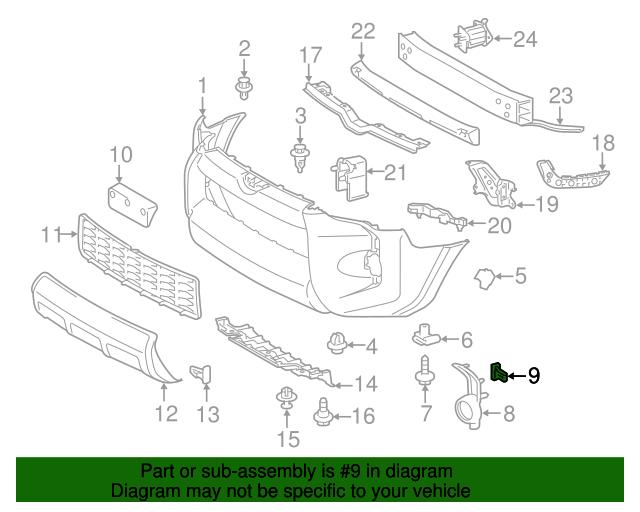 Fog Lamp Bezel Retainer Toyota 75392 35220