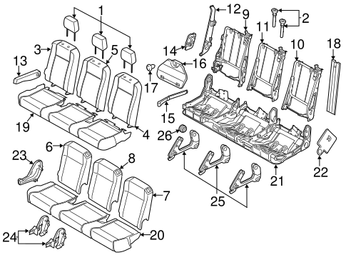 Body/Second Row Seats for 2015 Ford Transit-350 HD #3