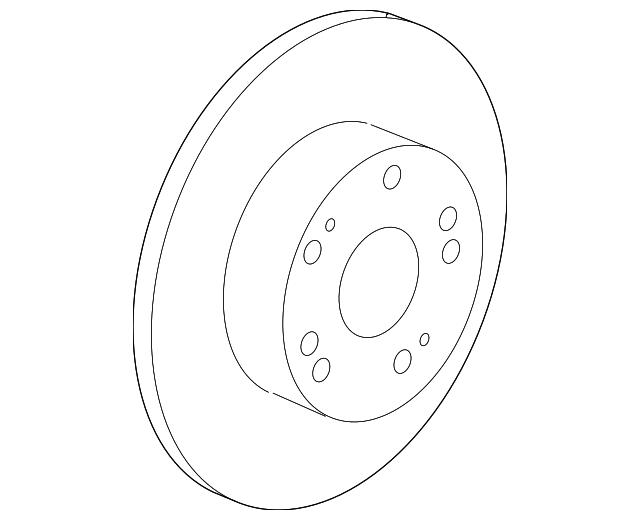 genuine honda rotor 42510