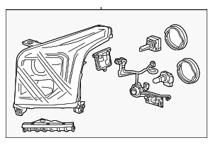 Headlamp Assembly - GM (84155709)