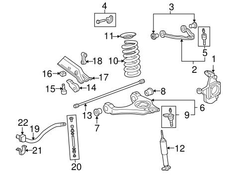 suspension components for 2003 chevrolet silverado 2500 hd   gm parts online  gm parts online