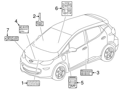 Oem 2018 Chevrolet Bolt Ev Labels Parts