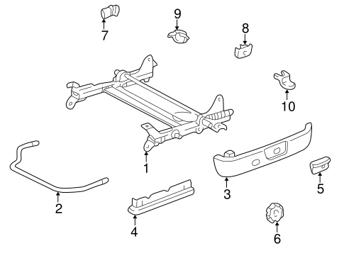 BODY/TRACKS & COMPONENTS for 1997 Toyota Camry #5