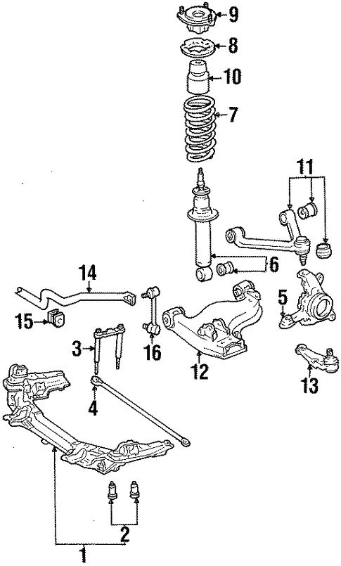 Genuine Oem Front Suspension Parts For 1991 Toyota Supra Turbo