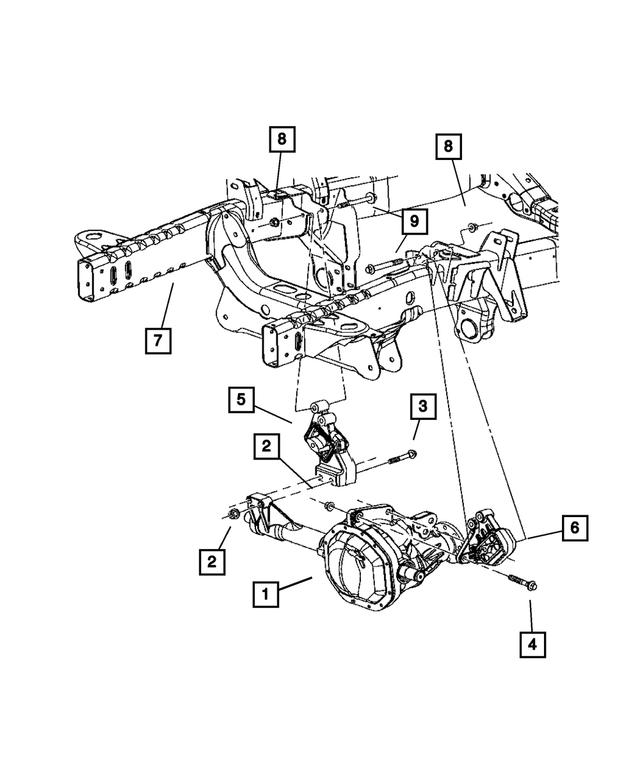 Insulator Engine Mou Part# 55366660AD Mopar