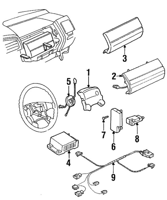 1993 1999 Volkswagen Wire Harness 1h0971581b