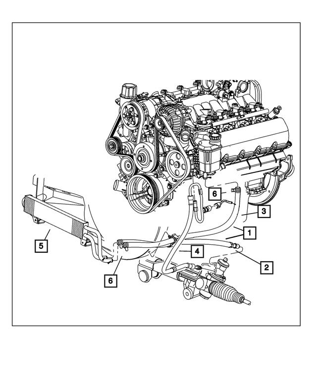 Genuine Chrysler 68053201AD Power Steering Return Hose