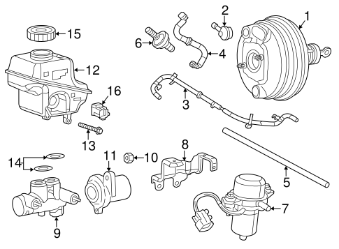 Hydraulic System for 2012 Dodge Charger   QuickPartsQuirk Parts