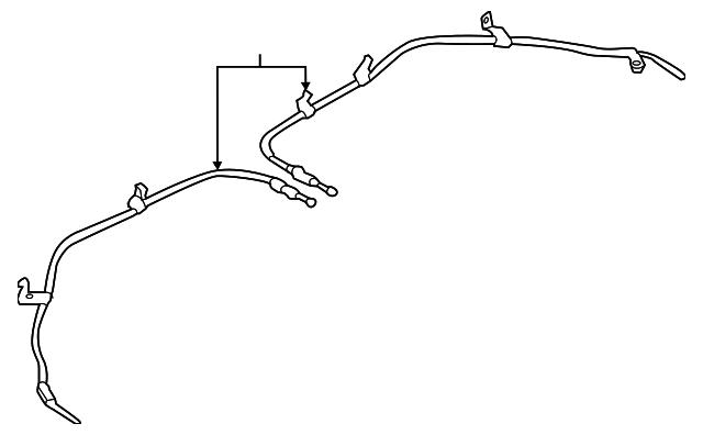 Genuine Chrysler 52013457AB Parking Brake Cable