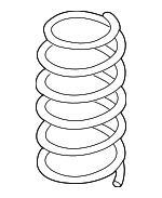 Coil Spring, Right, Left, Rear
