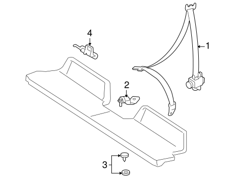 Rear Seat Belts For 2009 Toyota Tacoma
