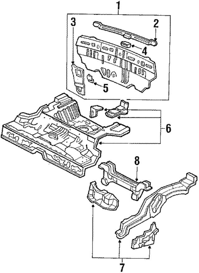 1988 1991 Honda Bracket B Rear Panel Lining 66118 Sh3 300zz
