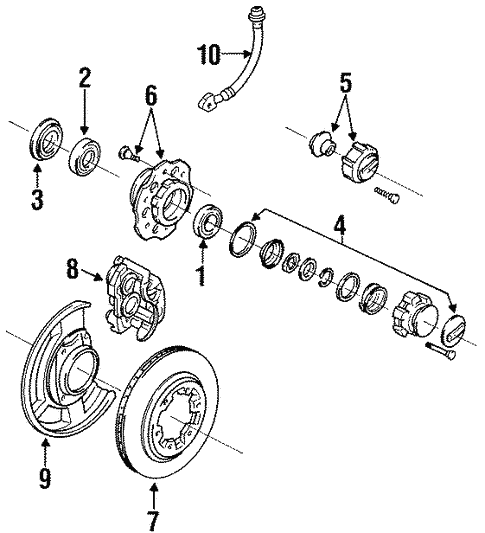 Brakes/Front Brakes for 1994 Nissan D21 #1