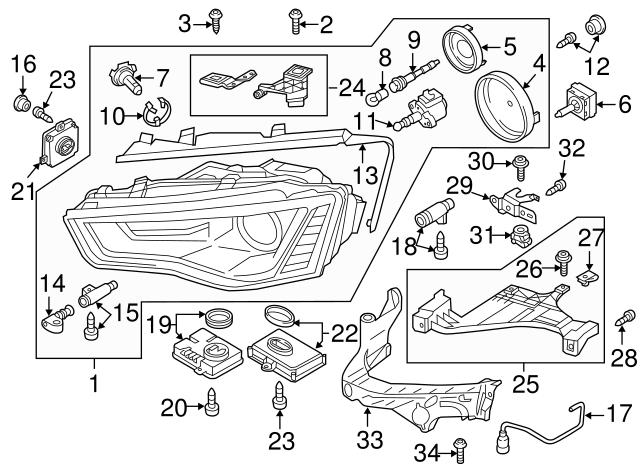 Genuine Audi Headlamp Assembly Screw N-911-182-01