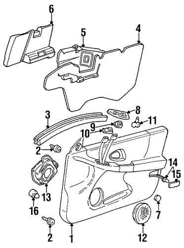 oem 2001 pontiac grand prix front door parts