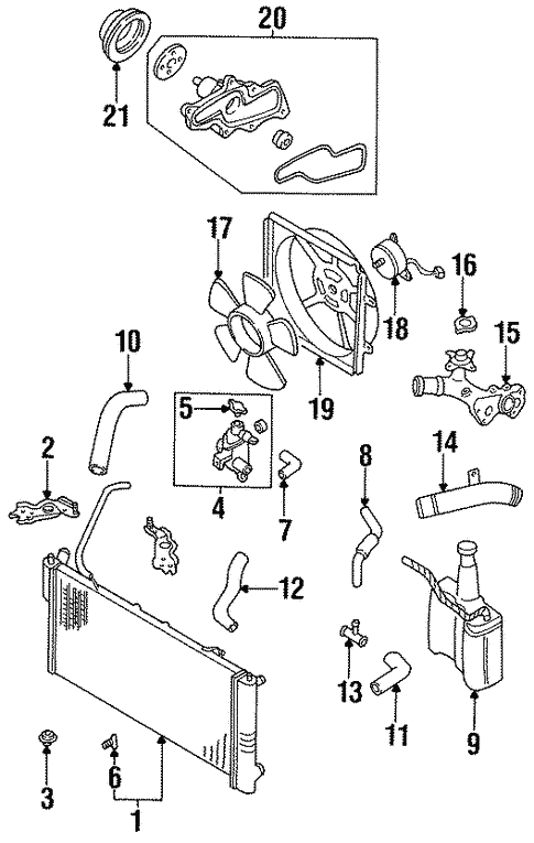 Diagram  For 96 Mazda 626 Coolant Diagram Full Version Hd