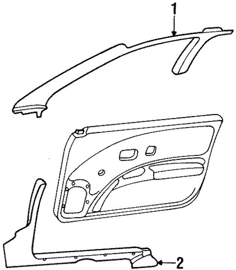 Interior Trim - Pillars for 1992 Saturn SC #0