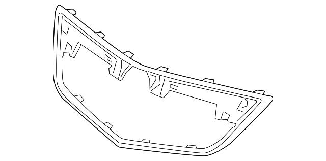 2012 2014 acura tl sedan molding front grille 75105 tk4 a11 2017 Acura TL molding front grille acura 75105 tk4 a11