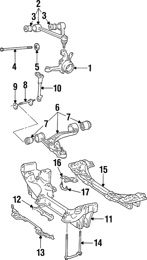 FRONT SUSPENSION/UPPER CONTROL ARM for 1997 Toyota Supra #1