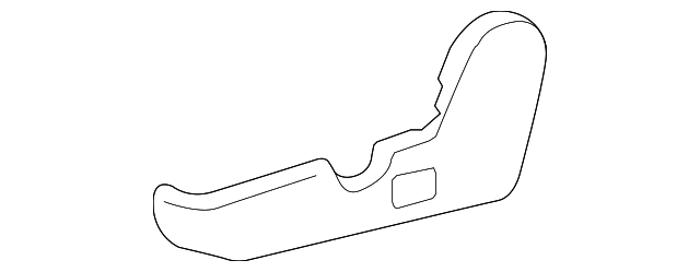 TOYOTA Genuine 71811-AA040-B0 Seat Cushion Shield