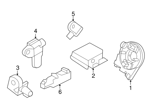 Electrical/Air Bag Components for 2015 Ford Explorer #1
