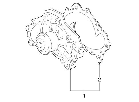 COOLING SYSTEM/WATER PUMP for 2001 Toyota Avalon #2