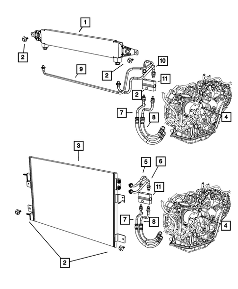 Transmission Oil Cooler And Lines For 2008 Dodge Caliber Thomas Dodge Parts