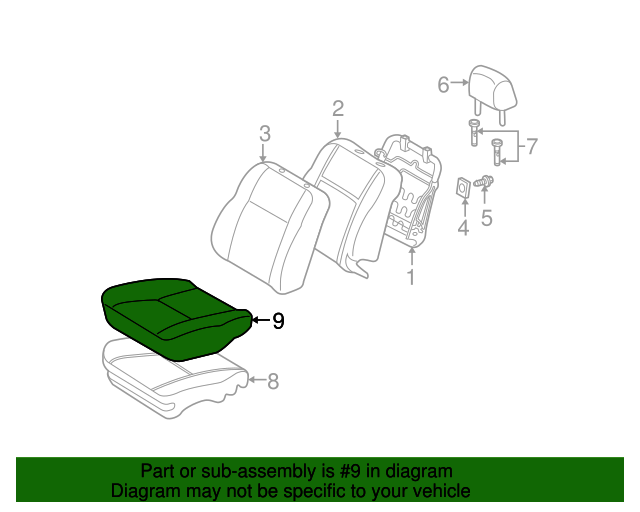 TOYOTA Genuine 71072-52B30-B0 Seat Cushion Cover