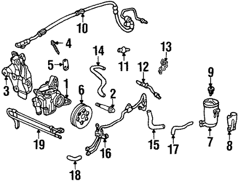 Pump Sub-Assembly, Power Steering