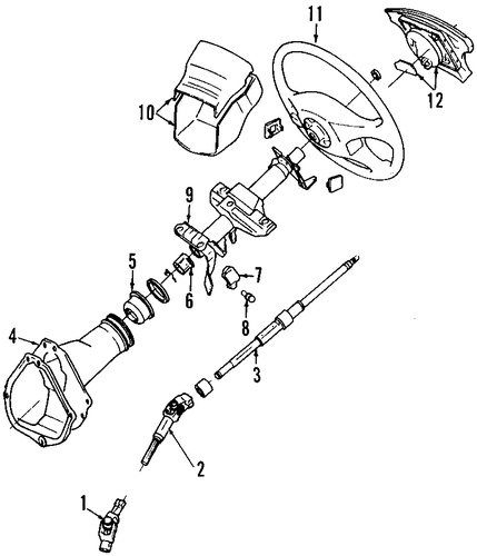 STEERING/STEERING COLUMN for 1996 Toyota Celica #2