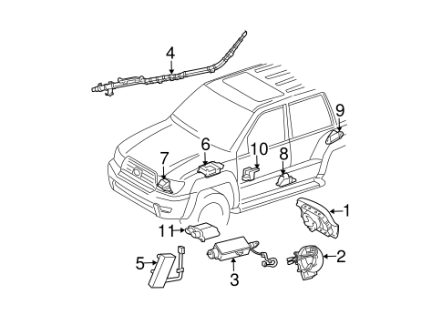 Air Bag Components for 2003 Toyota 4Runner #0