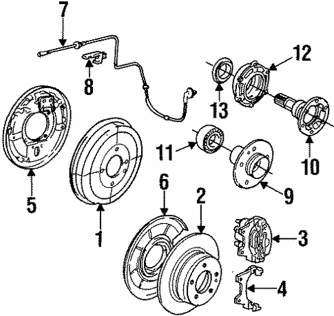 Rear Brakes for 1991 BMW 325i #0