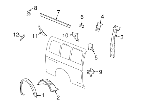 Body/Inner Structure for 2018 Chevrolet Express 2500 #3