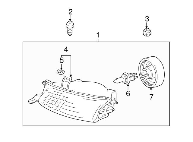 Toyota 81139-06050 Headlamp Socket Cover