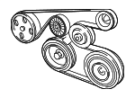 Serpentine Belt - Lexus (90916-A2007)