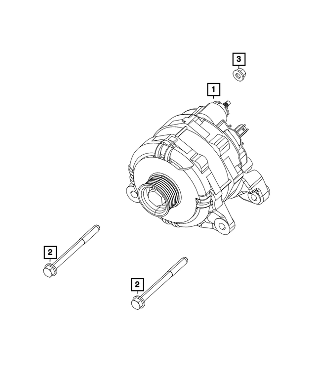 Alternator - Mopar (68422277AB)