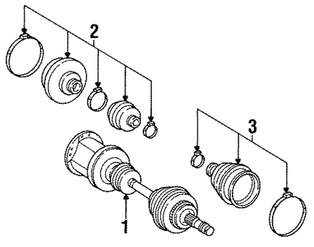 Axle Assembly - Mercedes-Benz (124-330-10-01)